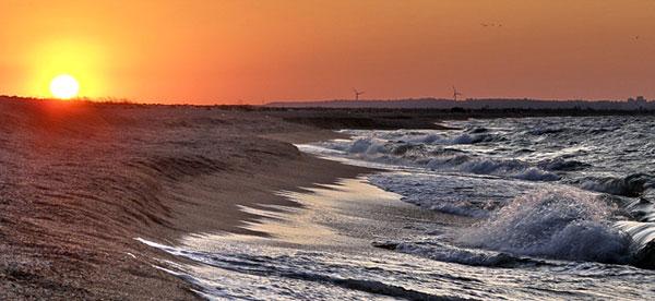 Поселок Песочное, Крым, Азовское Море