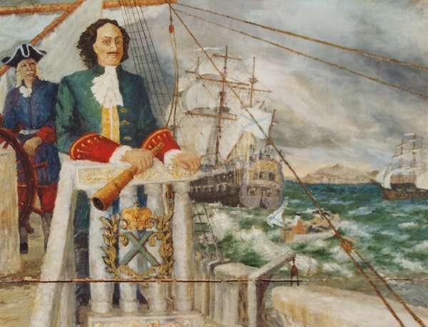 Первые шаги на Черном море. Петр с кораблями в Керченском проливе