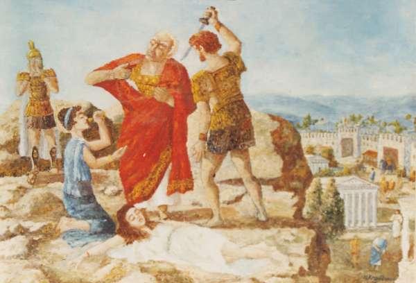 Смерть царя Митридата VI Евпатора