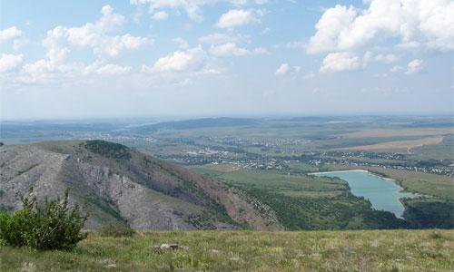 Чатыр-Даг, вид с плато, ишачья тропа
