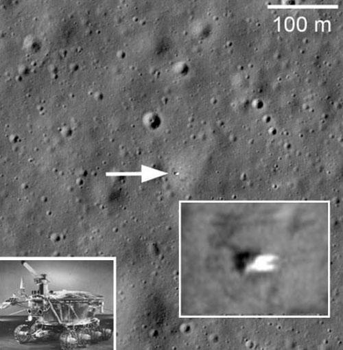 Снимок Лунохода-1, полученный LRO