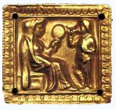 Скифская царица Табити с зеркалом