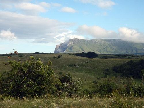 Вид на верхнее плато Чатыр-Дага.