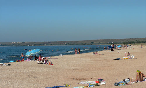 Пляж, лето, Крым, Новоотрадное