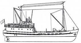 Рыболовецкий бот водоизмещением 150 тонн, серия которых строилась в конце 50-х годов