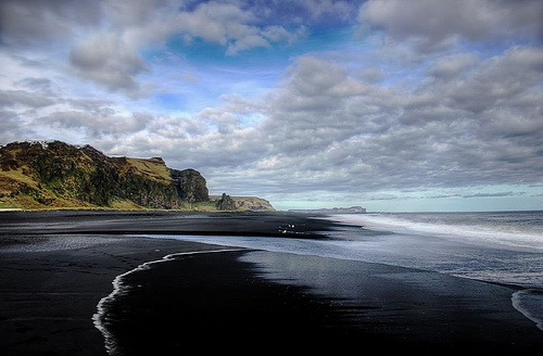 Beach at Vik in iceland