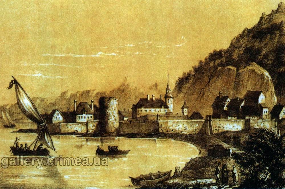 Вид Керчи в 1821-м году.