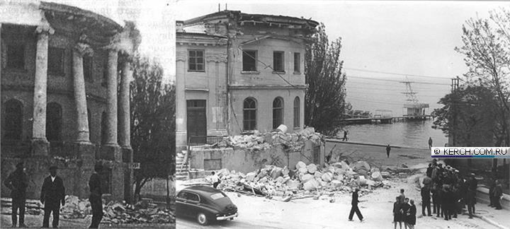 Демонтаж колоннады дома Домгера, конец 1960-х